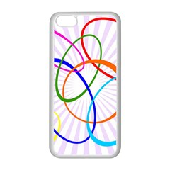 Abstract Background With Interlocking Oval Shapes Apple Iphone 5c Seamless Case (white) by Nexatart