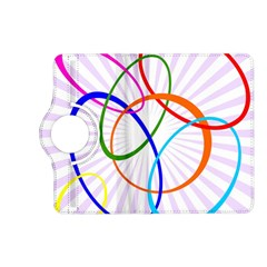 Abstract Background With Interlocking Oval Shapes Kindle Fire Hd (2013) Flip 360 Case by Nexatart