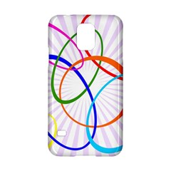 Abstract Background With Interlocking Oval Shapes Samsung Galaxy S5 Hardshell Case