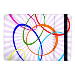 Abstract Background With Interlocking Oval Shapes Samsung Galaxy Tab Pro 10 1  Flip Case by Nexatart
