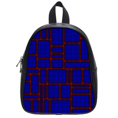 Line Plaid Red Blue School Bags (small)  by Mariart
