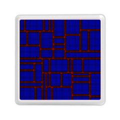 Line Plaid Red Blue Memory Card Reader (square)  by Mariart