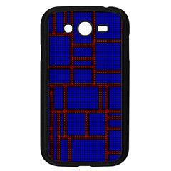 Line Plaid Red Blue Samsung Galaxy Grand Duos I9082 Case (black) by Mariart