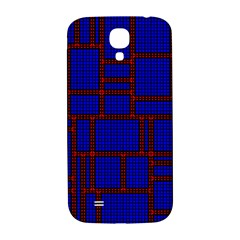 Line Plaid Red Blue Samsung Galaxy S4 I9500/i9505  Hardshell Back Case by Mariart