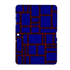 Line Plaid Red Blue Samsung Galaxy Tab 2 (10 1 ) P5100 Hardshell Case  by Mariart