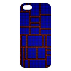 Line Plaid Red Blue Iphone 5s/ Se Premium Hardshell Case by Mariart