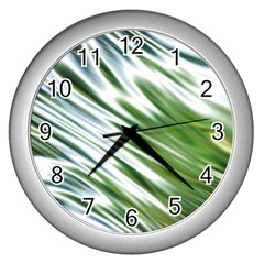Fluorescent Flames Background Light Effect Abstract Wall Clocks (silver)  by Nexatart