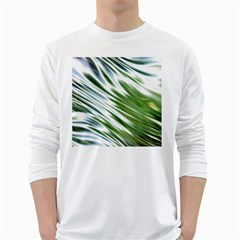 Fluorescent Flames Background Light Effect Abstract White Long Sleeve T Shirts