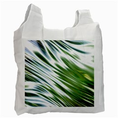 Fluorescent Flames Background Light Effect Abstract Recycle Bag (two Side)  by Nexatart
