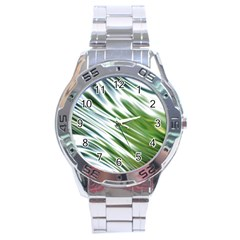 Fluorescent Flames Background Light Effect Abstract Stainless Steel Analogue Watch by Nexatart