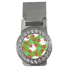 Insect Flower Floral Animals Star Green Red Sunflower Money Clips (cz)  by Mariart
