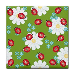 Insect Flower Floral Animals Star Green Red Sunflower Face Towel by Mariart