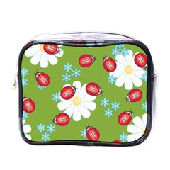 Insect Flower Floral Animals Star Green Red Sunflower Mini Toiletries Bags by Mariart