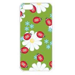 Insect Flower Floral Animals Star Green Red Sunflower Apple Iphone 5 Seamless Case (white) by Mariart