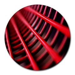 Abstract Of A Red Metal Chair Round Mousepads by Nexatart