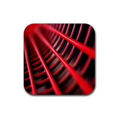 Abstract Of A Red Metal Chair Rubber Square Coaster (4 Pack)  by Nexatart