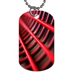 Abstract Of A Red Metal Chair Dog Tag (two Sides) by Nexatart
