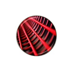Abstract Of A Red Metal Chair Hat Clip Ball Marker by Nexatart
