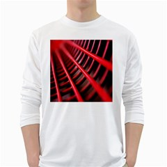 Abstract Of A Red Metal Chair White Long Sleeve T Shirts