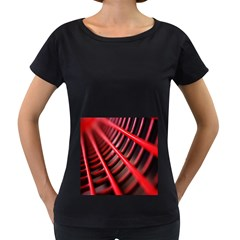 Abstract Of A Red Metal Chair Women s Loose-Fit T-Shirt (Black) by Nexatart