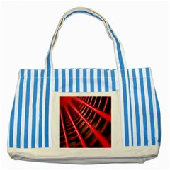 Abstract Of A Red Metal Chair Striped Blue Tote Bag
