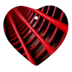 Abstract Of A Red Metal Chair Heart Ornament (two Sides) by Nexatart