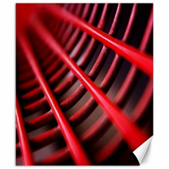 Abstract Of A Red Metal Chair Canvas 20  X 24   by Nexatart