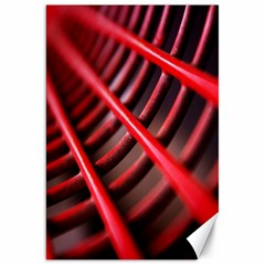 Abstract Of A Red Metal Chair Canvas 20  X 30   by Nexatart