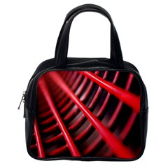 Abstract Of A Red Metal Chair Classic Handbags (one Side)