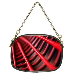 Abstract Of A Red Metal Chair Chain Purses (one Side)  by Nexatart