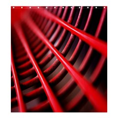 Abstract Of A Red Metal Chair Shower Curtain 66  X 72  (large)  by Nexatart