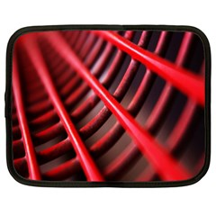 Abstract Of A Red Metal Chair Netbook Case (xxl)  by Nexatart
