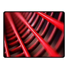 Abstract Of A Red Metal Chair Fleece Blanket (small) by Nexatart