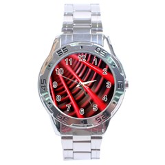 Abstract Of A Red Metal Chair Stainless Steel Analogue Watch by Nexatart