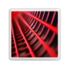 Abstract Of A Red Metal Chair Memory Card Reader (square)  by Nexatart