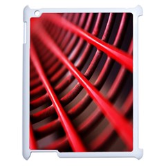 Abstract Of A Red Metal Chair Apple Ipad 2 Case (white) by Nexatart