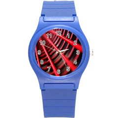 Abstract Of A Red Metal Chair Round Plastic Sport Watch (s) by Nexatart