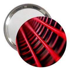 Abstract Of A Red Metal Chair 3  Handbag Mirrors