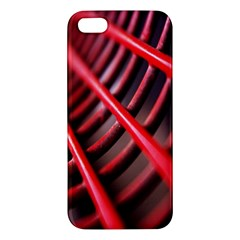 Abstract Of A Red Metal Chair Apple Iphone 5 Premium Hardshell Case by Nexatart