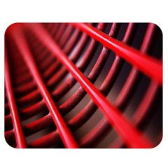 Abstract Of A Red Metal Chair Double Sided Flano Blanket (medium)  by Nexatart