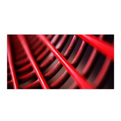 Abstract Of A Red Metal Chair Satin Wrap by Nexatart
