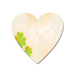 Leaf Polka Dot Green Flower Star Heart Magnet by Mariart