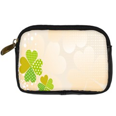 Leaf Polka Dot Green Flower Star Digital Camera Cases by Mariart