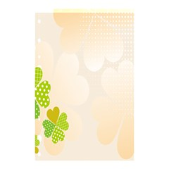 Leaf Polka Dot Green Flower Star Shower Curtain 48  X 72  (small)  by Mariart
