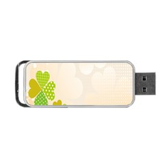 Leaf Polka Dot Green Flower Star Portable Usb Flash (two Sides) by Mariart