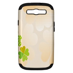 Leaf Polka Dot Green Flower Star Samsung Galaxy S Iii Hardshell Case (pc+silicone) by Mariart