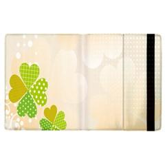 Leaf Polka Dot Green Flower Star Apple Ipad 3/4 Flip Case by Mariart
