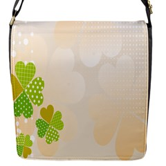Leaf Polka Dot Green Flower Star Flap Messenger Bag (s) by Mariart