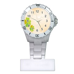 Leaf Polka Dot Green Flower Star Plastic Nurses Watch by Mariart