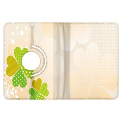 Leaf Polka Dot Green Flower Star Kindle Fire Hdx Flip 360 Case by Mariart